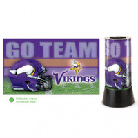 Minnesota Vikings Rotating Team Lamp