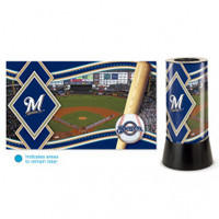 Milwaukee Brewers Rotating Team Lamp