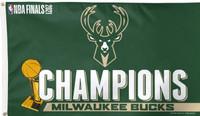 Milwaukee Bucks 2021 NBA Champions 3' x 5' Team Flag