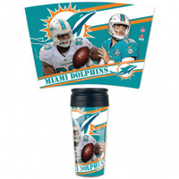 Miami Dolphins 16oz Travel Mug