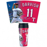 Texas Rangers 16oz Travel Mug