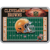 Cleveland Browns Glass Cutting Board
