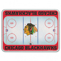 Chicago Blackhawks Glass Cutting Board