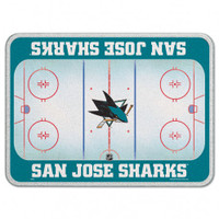 San Jose Sharks Glass Cutting Board