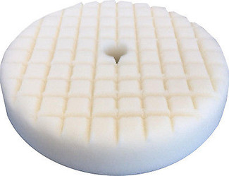 Lake Country 8 Inch White Cross Cut Foam Cutting Pad