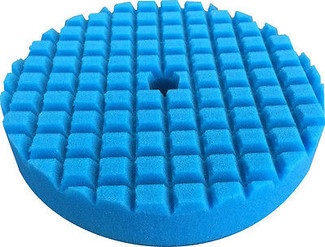 Lake Country 8 Inch Blue Medium Polish Foam Cross Cut Pad