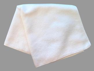 White 300 GSM Microfiber Towel