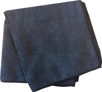 Black 300 GSM Microfiber Towel