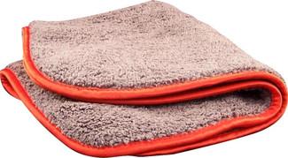 Gray / Red 600 GSM Microfiber Towel