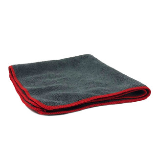 Gray / Red 400 GSM Ultra Terry Microfiber Towel