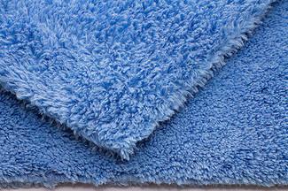 "Edgeless Blue 470 GSM Microfiber Towel 16"" x 24"""