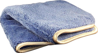 Blue/Silver 1100 GSM Microfiber Towel