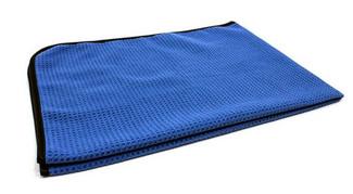 """Blue Waffle Weave Premium Korean Microfiber Drying Towel 460 GSM 25"""" x 36"""""""