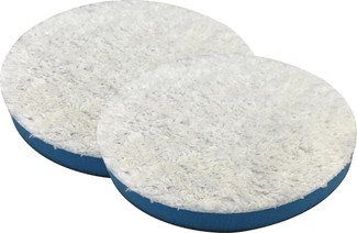 SM Arnold 3.5 Inch Blue Microfiber Finishing / Polishing Pads - 2 Pack