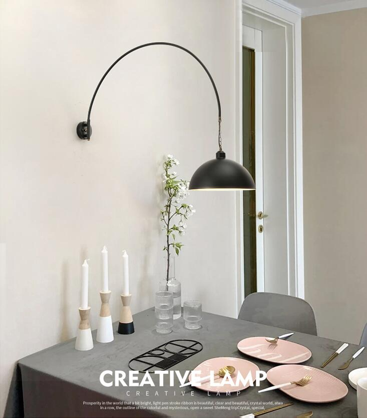 Industrial Style Led Wall Light Metal Adjustable Retro Bedroom Living Room Reading Light Horizon Lights