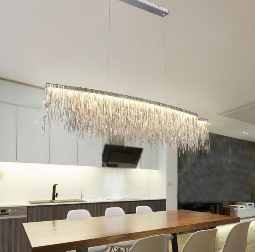 Tassel Chain LED Chandelier; Horizon-lights