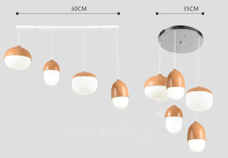 Individuality Nuts Glass Mushroom Pendant Lights;Horizon-lights