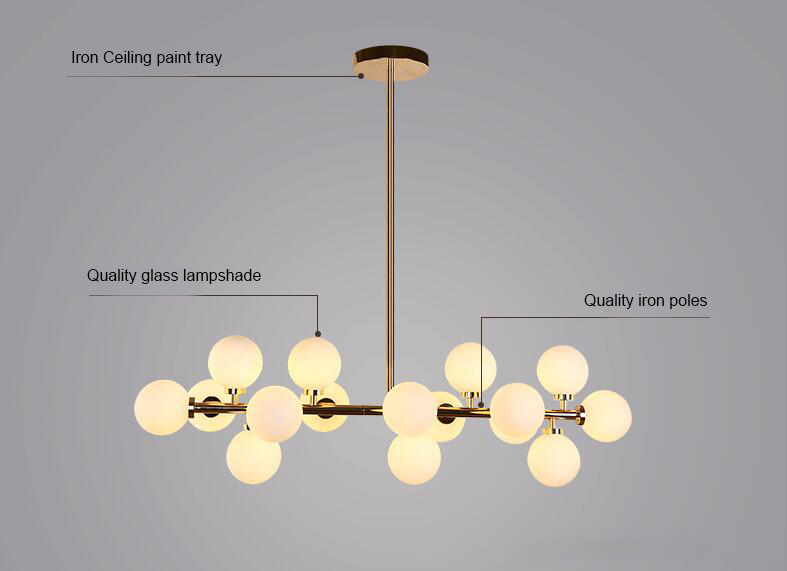 Beanstalk Glass Ball Pendant Lamp;Horizon-lights