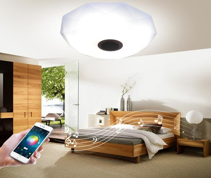 Ceiling Lamp Mobile Phone Bluetooth APP Control Music Color Change Dimming