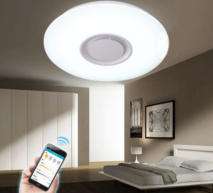 LED Ceiling Lights Mobile App Control bluetooth speaker Dimmable free  shipping by DHL