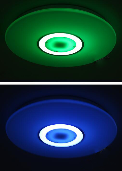 Bluetooth Music Ceiling Light Dimming Cell Phone Smart Remote Control Lights