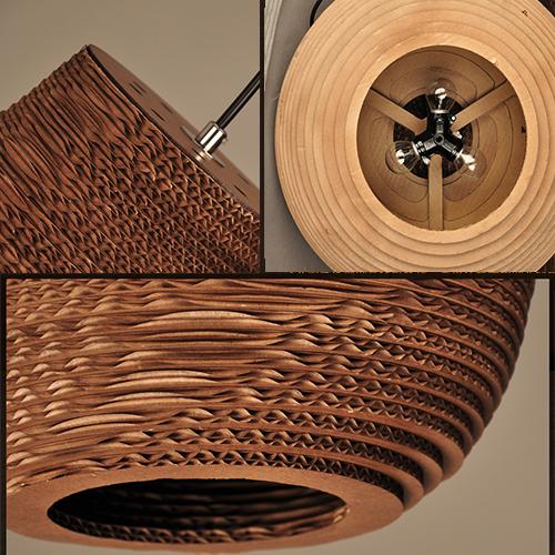 LED Pendant Light Fabric Shade American Retro Style;Horizon-lights