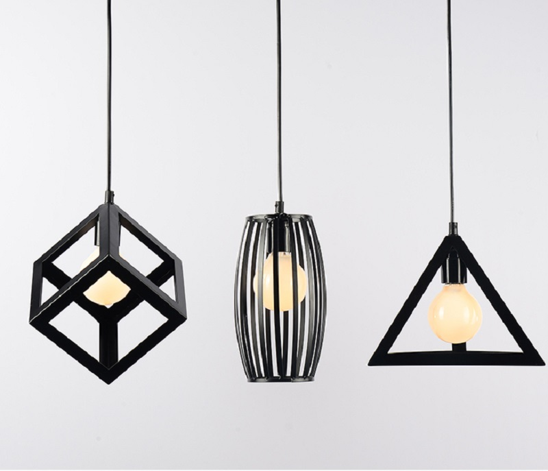 Metal Cage LED Kitchen Pendant Lights;Horizon-lights