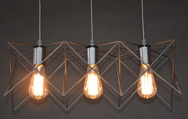 Iron Creative Industrial Pendant Lights Hotel Dining Room Cafe
