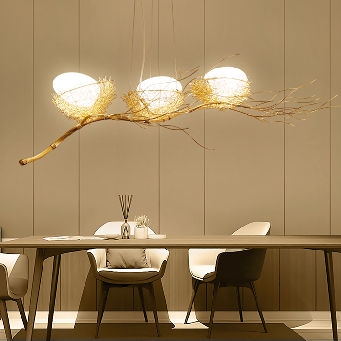 Bird's Nest Chandelier Light; Horizon Lights