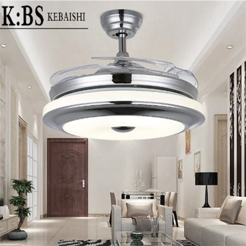KBS 32W 42'' Leaf Invisible Electric LED Dimmer Ceiling Fan Light Singapore;Horizon-lights