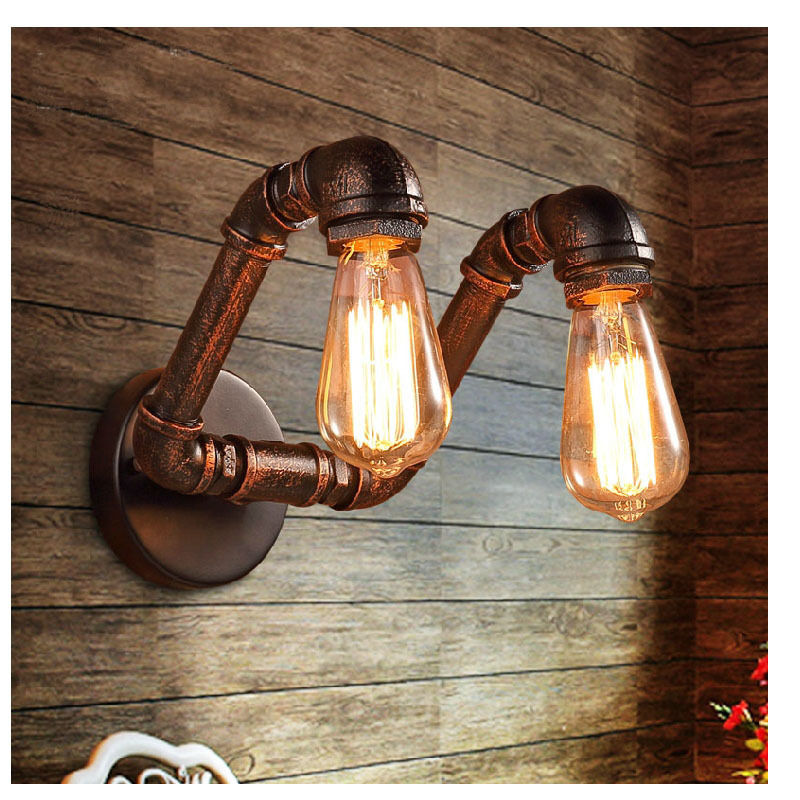 Voglio 40W Retro Iron Industrial Water Pipe Wall Lamp Singapore;Horizon-lights