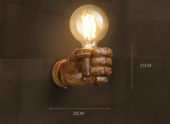 SHIM 40W Retro Industrial Palm Fist Wall Lamps Singapore;Horizon-lights