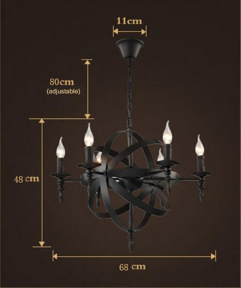 American Retro Candlestick Iron Chandelier from Singapore best online lighting shop horizon lights