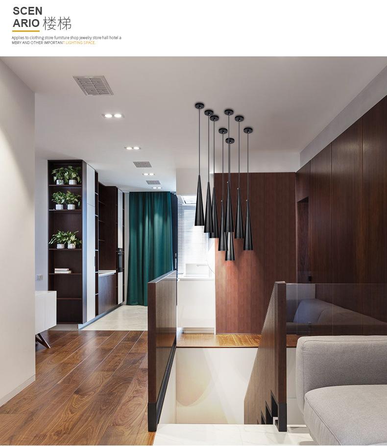 Modern LED Pendant Lamps Aluminum & metal home/Industrial lighting hang lamp