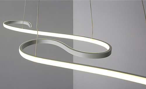 LED Pendant Lights Aluminium Fish Line Shape Modern Style from Singapore best online lighting shop horizon lights