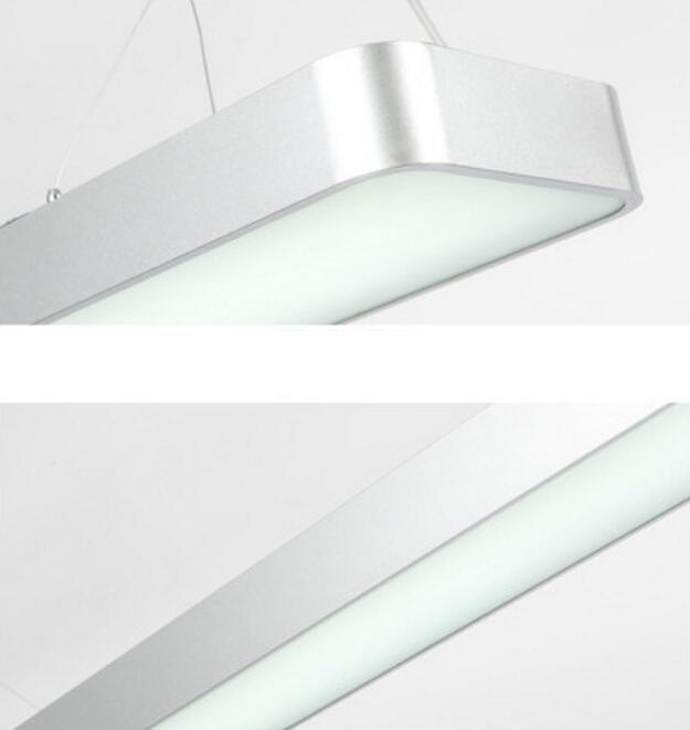 LED Aluminum Hanging Line Lamps Rounded Office Commercial Building Project Lighting
