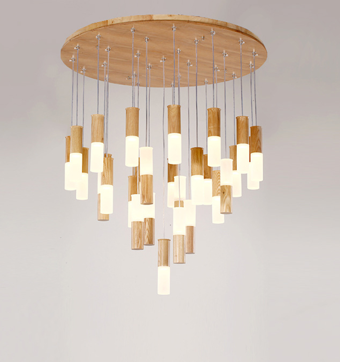 Wooden Match Heads Pendant Lamp; Horizon-lights