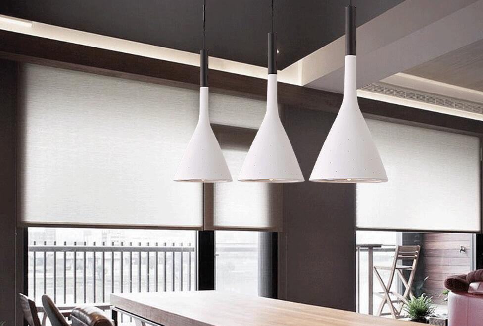 Retro Industrial Style Cement Pendant Light