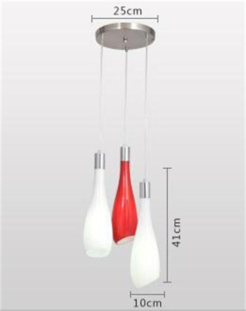 LED Modern minimalist fashion glass pendant light bedroom bar restaurant lamp fromSingaporeluxurylightinghouseHorizon-lights.