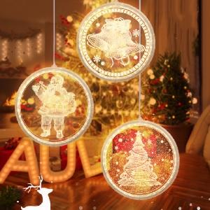 3D Acrylic Christmas Decorations LED Pendant Light