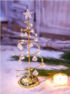 Crystal white Christmas LED Tree Table Lamp