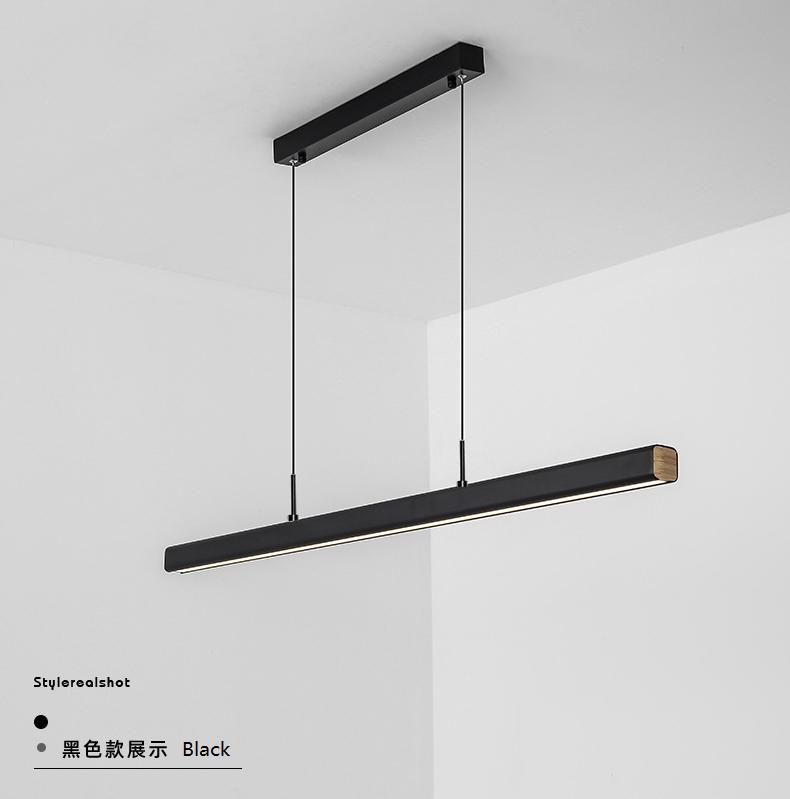 Long Strip LED Pendant Light Modern Style Office Bar Dining Table Horizon Lights