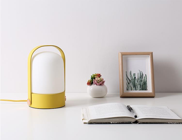 Modern Simple LED Table Lamp Multicolor Metal Portable Light Living Room Decor Horizon Lights