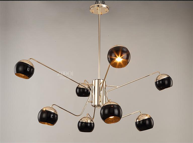 Metal Shade Creative Design LED Chandelier Light Post-modern Style Home Decor