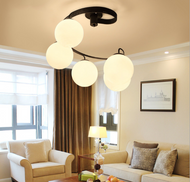 Modern Style Spiral Chandelier Glass Metal Originality Living room from Singapore luxury lighting shop Horizon-lights.