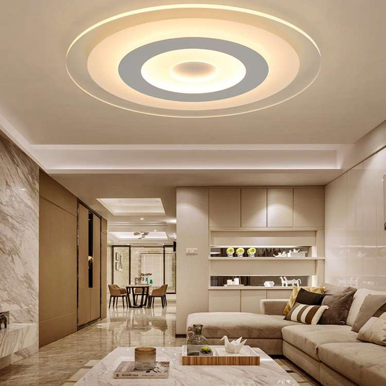 Modern Simple Led Ceiling Lights Acrylic Ultra Thin Special Design Living Room Bedroom