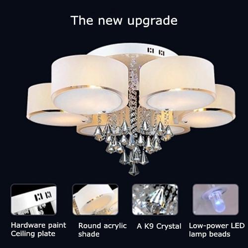 Voglio Chrome Finish Modern Chandelier Ceiling Light Fixtures for Bedroom,Living Room,Dining Room:Horizon-lights