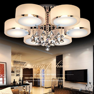 Crystal Glass Metal LED Chandeliers Light Modern Style Living Room Lobby from Singapore best online lighting shop Horizon Lights