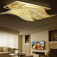The wave-like design implies smooth sailing, and the golden color shows luxury. Transparent glass rod, natural and refreshing, smooth and textured surface, uniform and bright light transmission. Remote control dimming can freely change 4 colors.