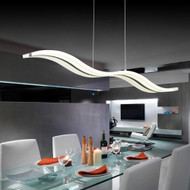 Voglio Chandelier Acrylic Shade Sea wave modern design Singapore Luxury lighting house  Horizon-lights